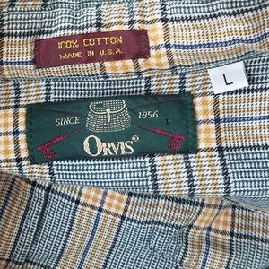 Orvis Shirts - Orvis Men's Checked Flannel Button Down Shirt